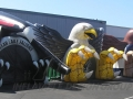 Inflatable Falcon and Eagle Mascot Tunnels