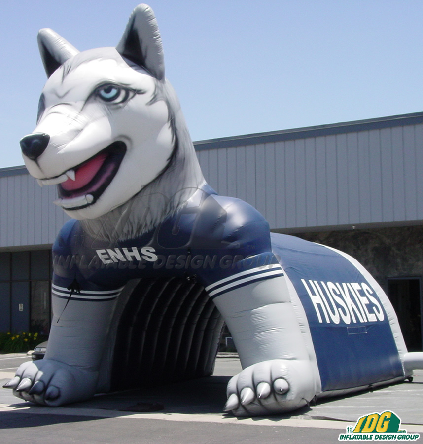 Edmond North Custom Inflatable Husky Entryway