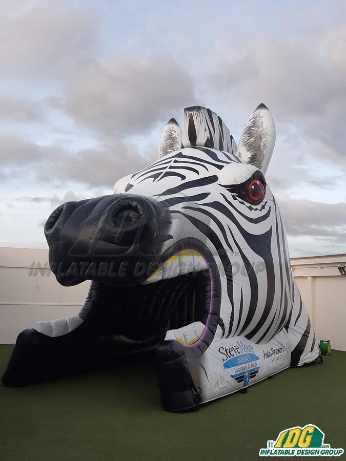 Steve Moore Custom Inflatable Zebras Entryway