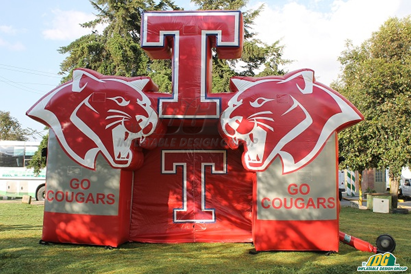 Tomball Cougars Custom Inflatable Entryway