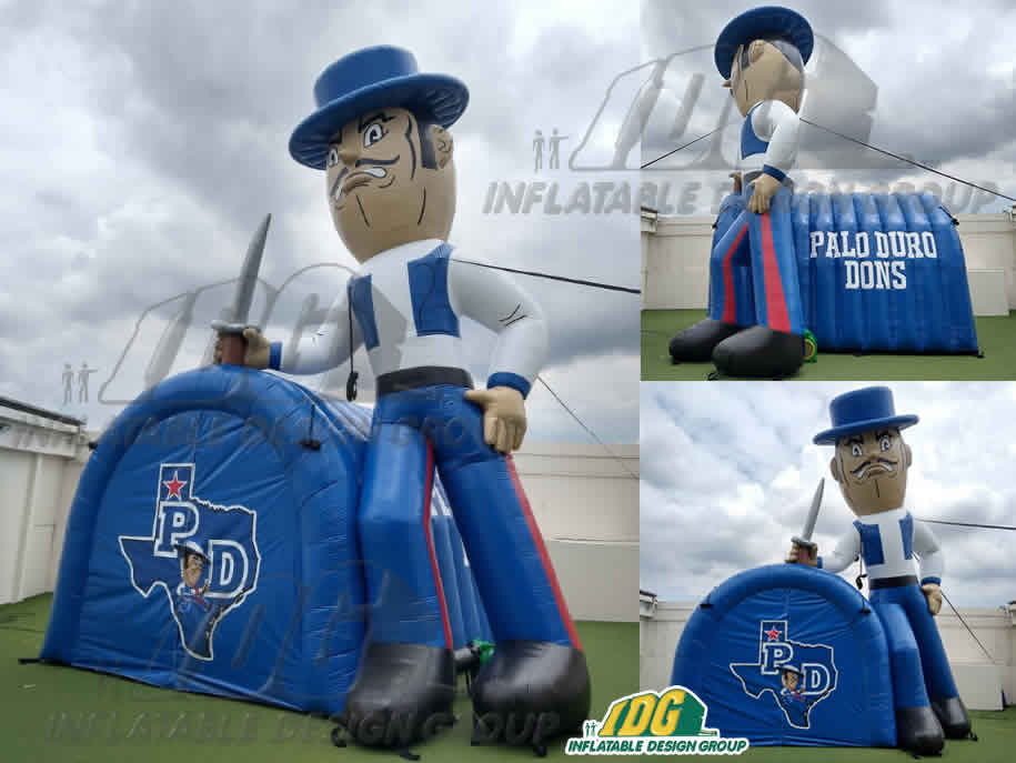 Inflatable-Mascot-Tunnel-Palo-Duro-Dons