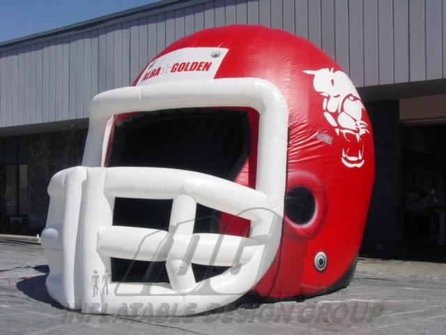 Alba Golden Custom Inflatable Football Helmet
