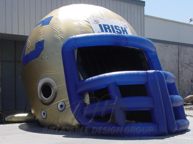 Cathedral Irish Custom Inflatable Football Helmet