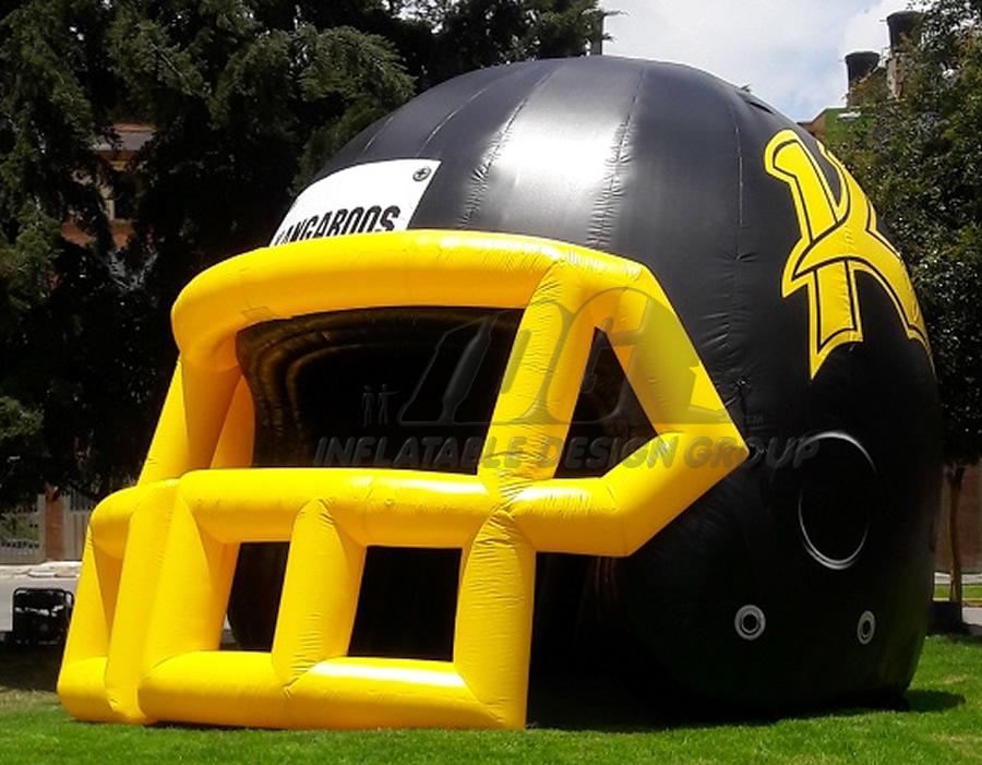 Dual Colored Custom Inflatable Football Helmet