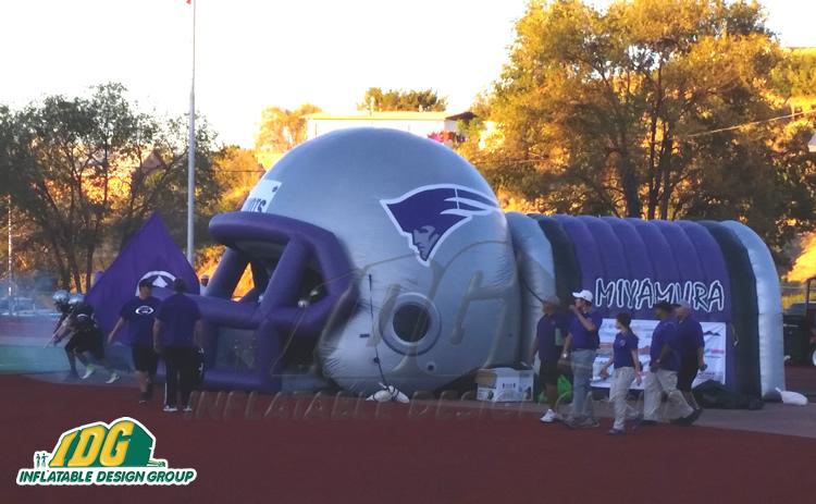 Miyamura High School Custom Inflatable Football Helmet