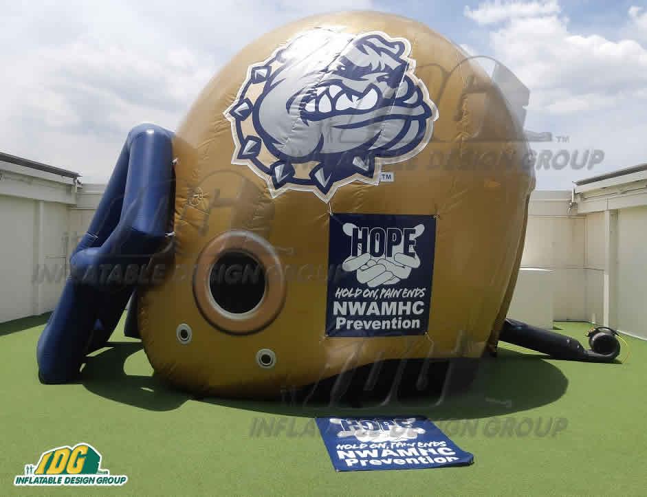 Bulldog Custom Inflatable Football Helmet