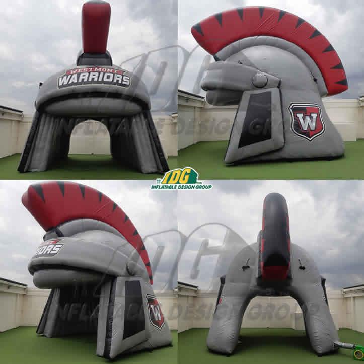 inflatable spartan helmet for high school sports team