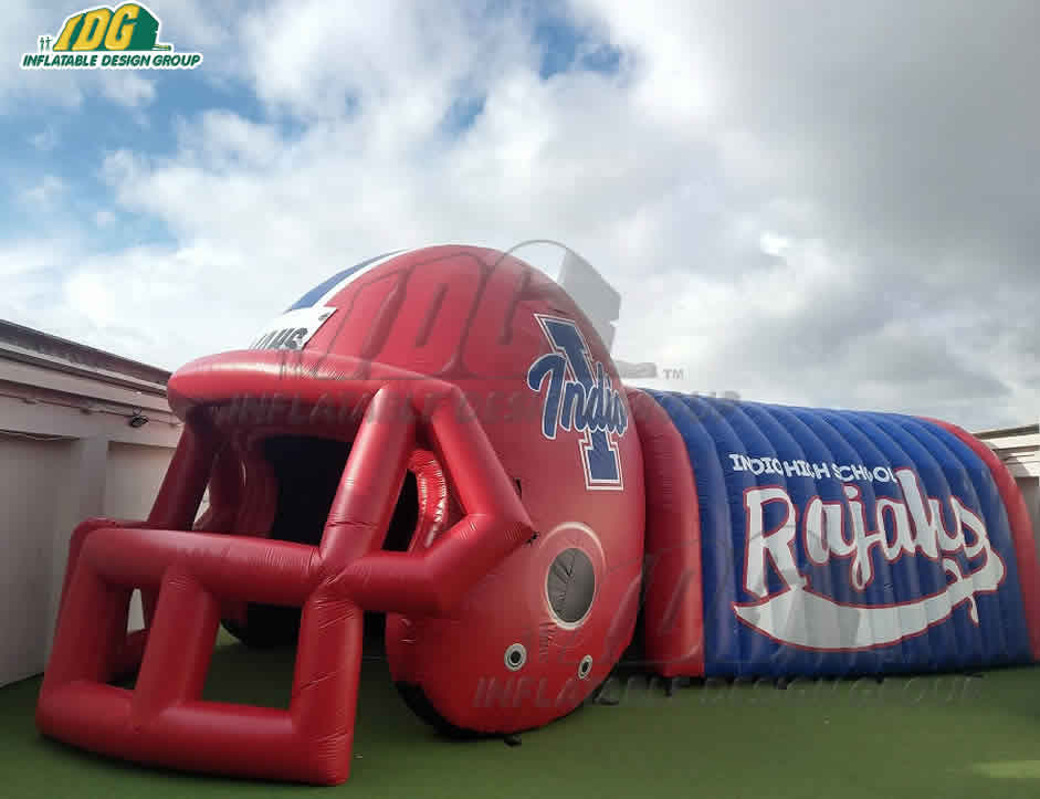 Inflatable High School Helmet and Tunnel