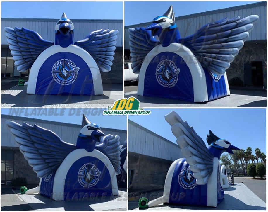 inflatable bluebird blue jay hockey