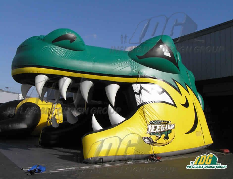 inflatable gator ice entryway hockey