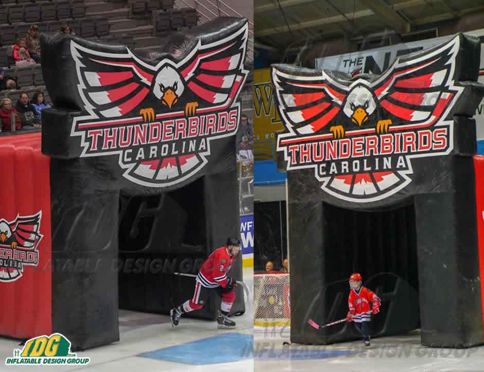 inflatable hockey carolina thunderbirds