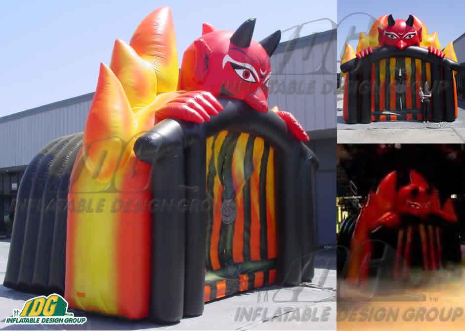 inflatable hockey devil fogs entryway st johns fog devils