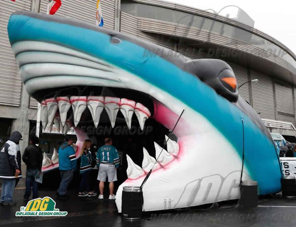 inflatable shark entryway san jose sharks