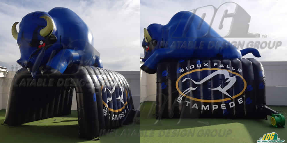 siout falls stampede custom inflatable entryway