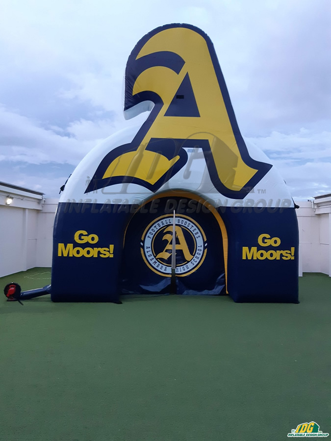 Alhambra Moors Custom Inflatable Arch Tunnel Logo Combo