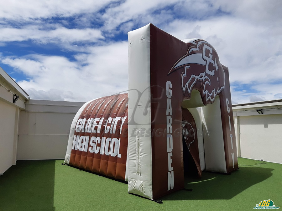 Garden City High School Custom Inflatable Tunnel and Arch With Logo