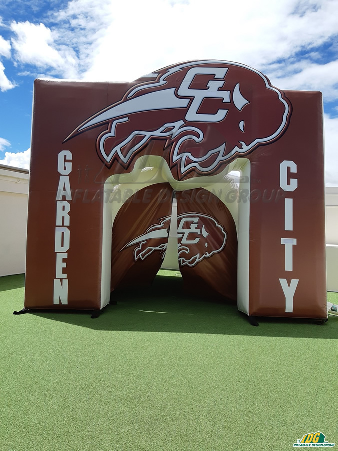Garden City High School Custom Inflatable Tunnel and Arch