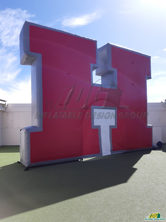 haughton hs custom inflatable tunnel and logo combo