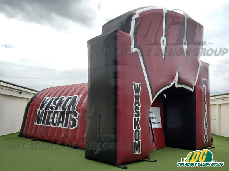 Waskom Wildcats Inflatable Logo Tunnel Combo