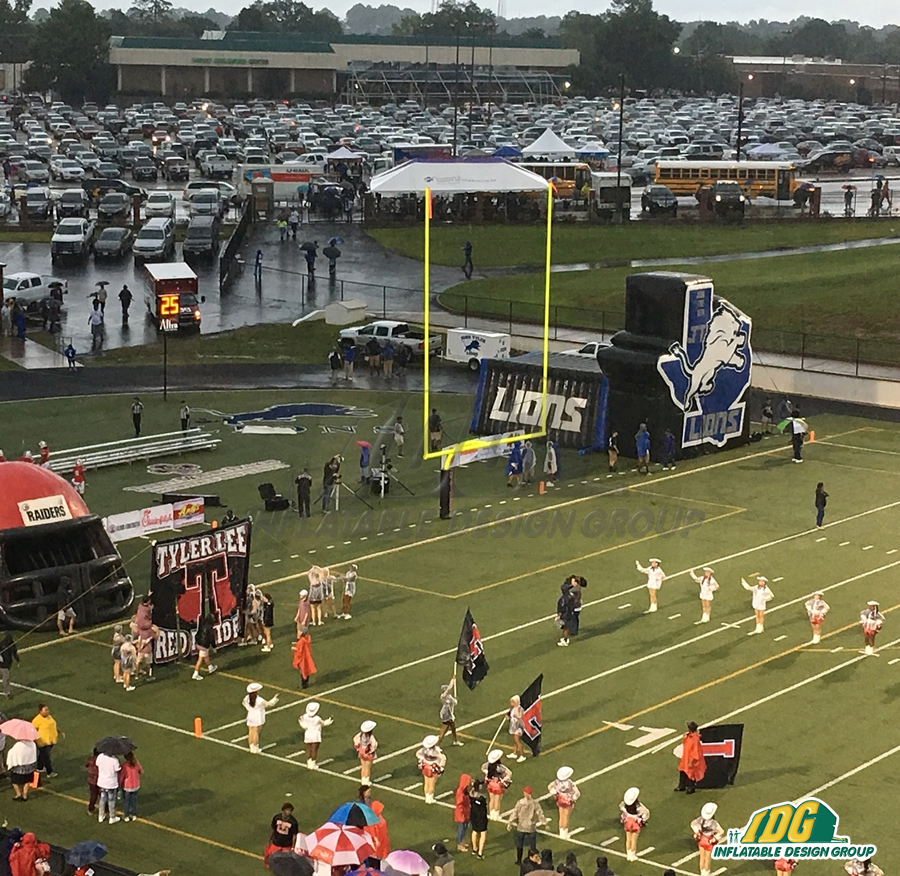 Lions Inflatable Logo Tunnel In Action