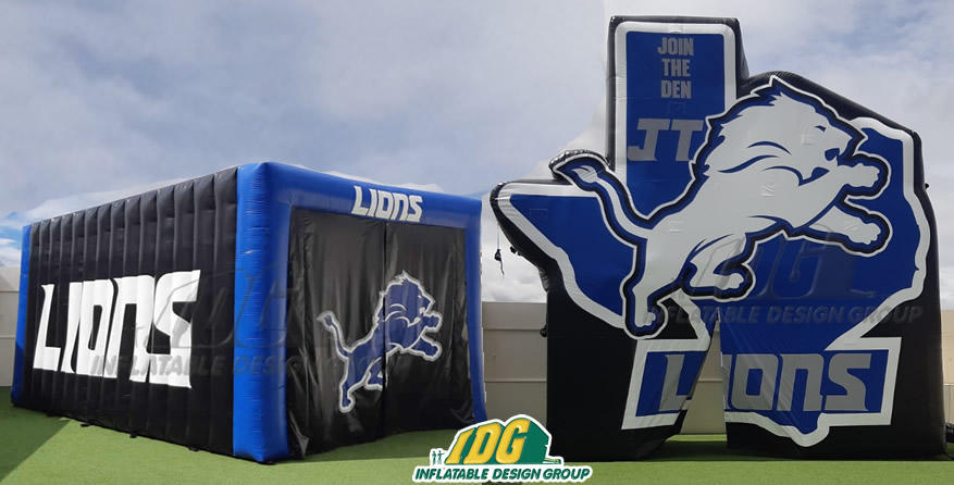 Lions Inflatable Logo Tunnel Combo