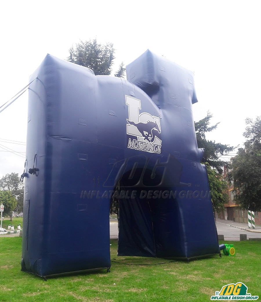 Mustangs Inflatable Logo Tunnel Back View