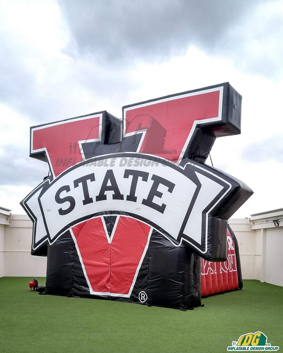 V State Custom Inflatable Logo Arch