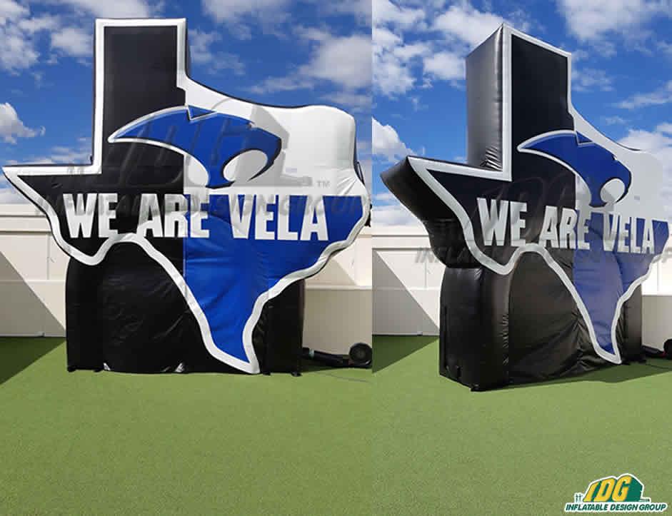 Robert Vela High School Custom Inflatable Logo Tunnel Combo