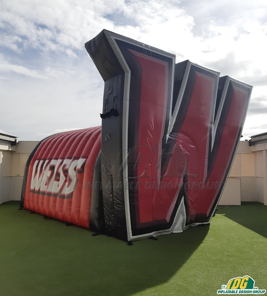 Weiss Custom Inflatable Logo Tunnel Arch Combo