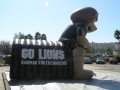 Inflatable Lion Mascot Tunnel Side View