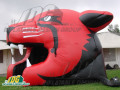 inflatable panther head entryway black red