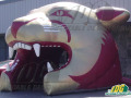 inflatable panther head entryway gold maroon