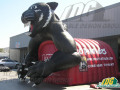 inflatable panther torso entryway