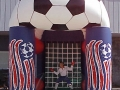 Red White Blue Soccer Kick Inflatable