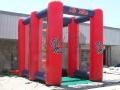 ole miss custom inflatable football kick