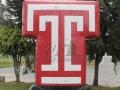 temple university custom inflatable logo block
