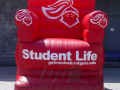Student Life Custom Inflatable Red Chair