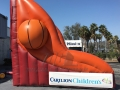 virginia tech custom inflatable free throw contest