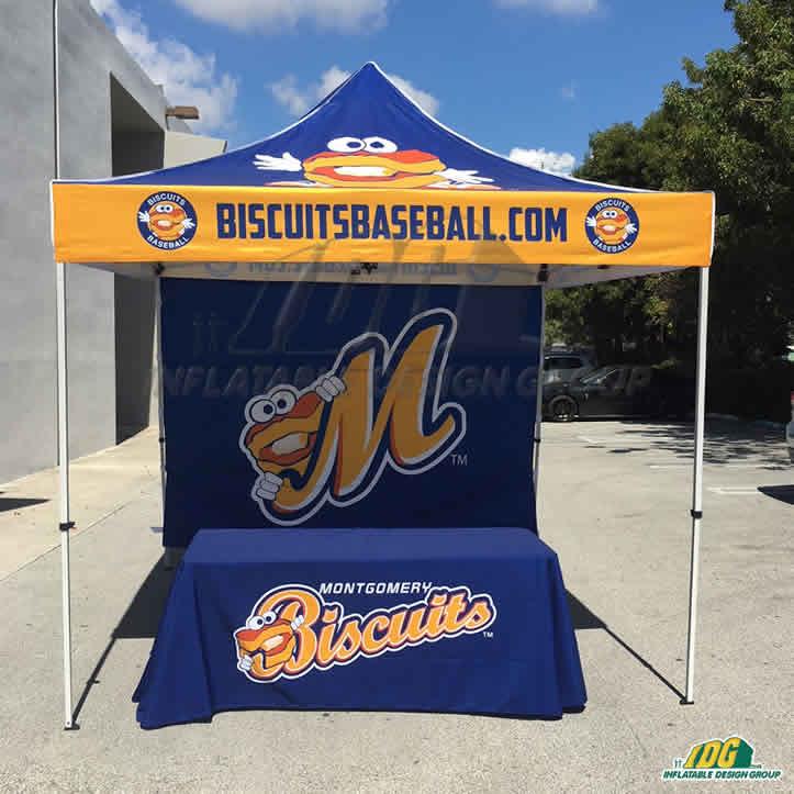 vendor tent custom package for baseball team