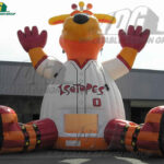 custom inflatable belly bounce baseball mascot