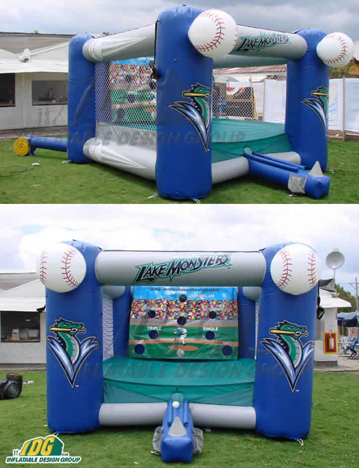 custom inflatable interactive baseball game