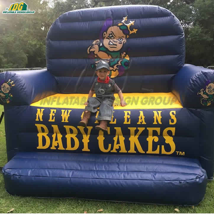 custom inflatable baby cakes couch