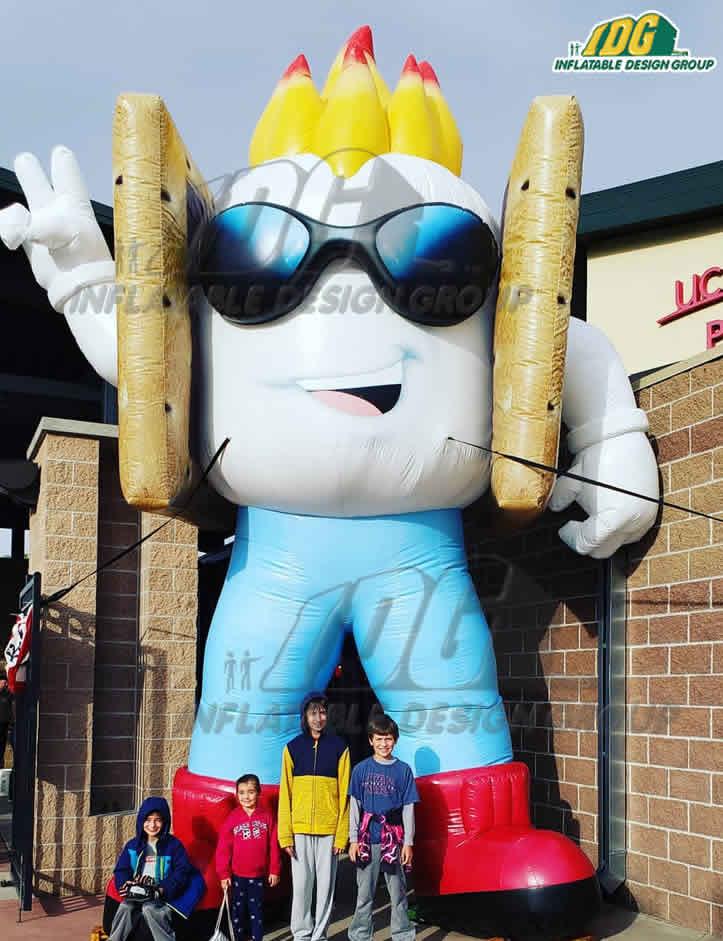 custom inflatables mascot replica baseball