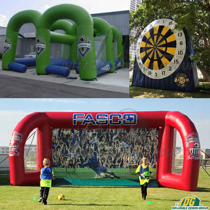 inflatable interactive soccer games