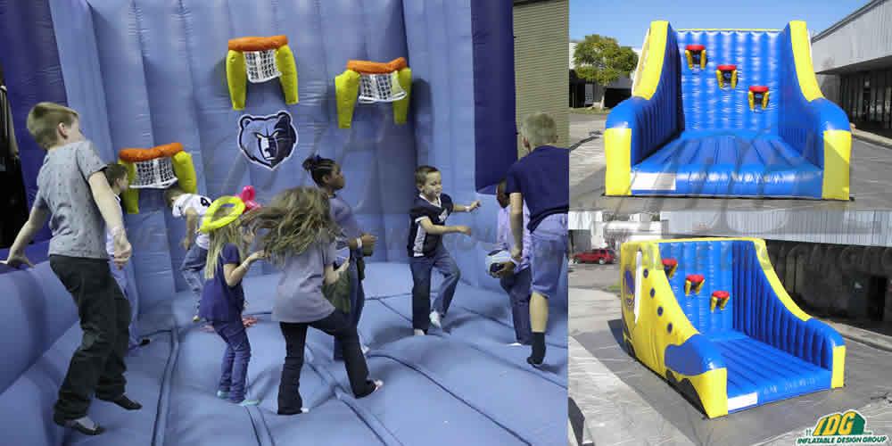 custom inflatable slam dunk pit