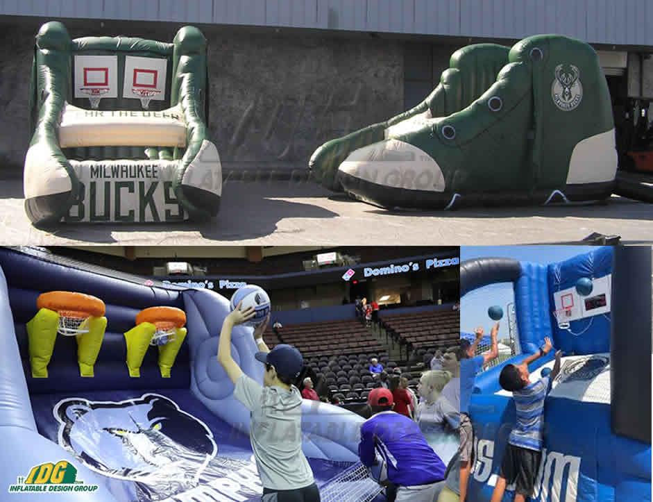 Interactive Inflatable Shooting NBA Basketball Games