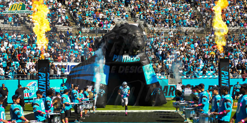 panthers custom inflatable tunnel