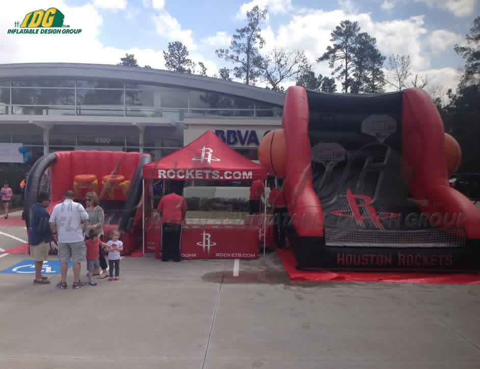 NBA Fan Zone with Interactive Inflatables