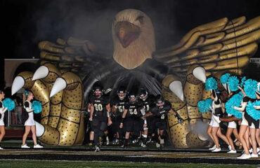 custom inflatable eagle mascot tunnel