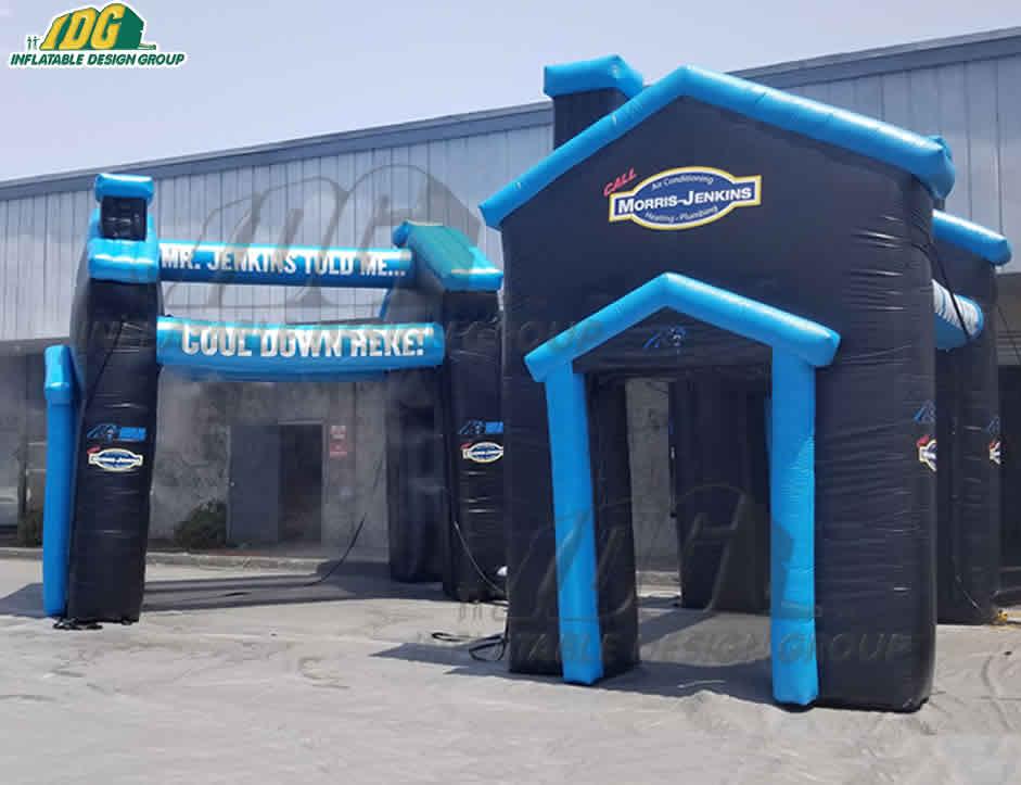 carolina panthers misting system custom house shape